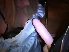 Drilling a Crossdresser Ass