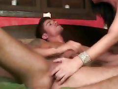 Stud gets head before getting fucked by a shemale